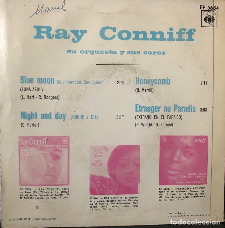 Discos de vinilo: RAY CONNIFF orquesta y coros, EP a 45 rpm - Foto 2 - 196381305