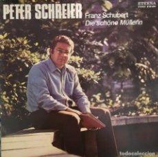 Discos de vinilo: PETER SCHREIER INTERPRETA DIE SCHONE MÜLLERIN DE SCHUBERT. SELLO ETERNA, 1974. Lote 196381440