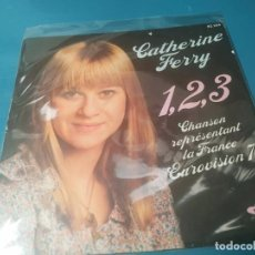 Disques de vinyle: CATHERINE FERRY - FESTIVAL EUROVISION, SG, 1, 2, 3 (2º PREMIO FESTIVAL EUROVISIÓN) + 1, AÑO 1976. Lote 196382373