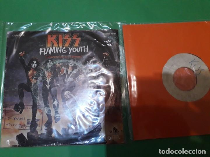 KISS FLAMING YOUTH Y I WAS MADE FOR LOVING YOU PROMO TESTPRESSING (Música - Discos - Singles Vinilo - Heavy - Metal)