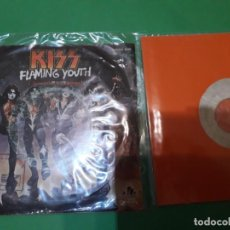 Discos de vinilo: KISS FLAMING YOUTH Y I WAS MADE FOR LOVING YOU PROMO TESTPRESSING. Lote 196386323