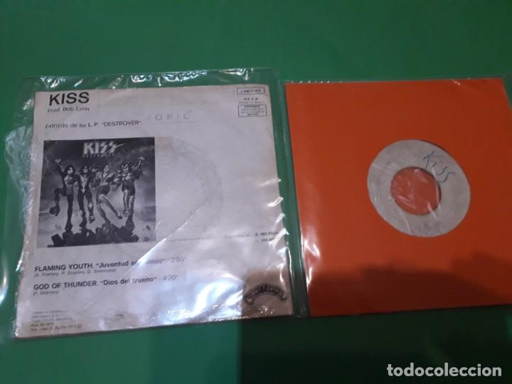 Discos de vinilo: kiss flaming youth y I WAS MADE FOR LOVING YOU PROMO TESTPRESSING - Foto 2 - 196386323