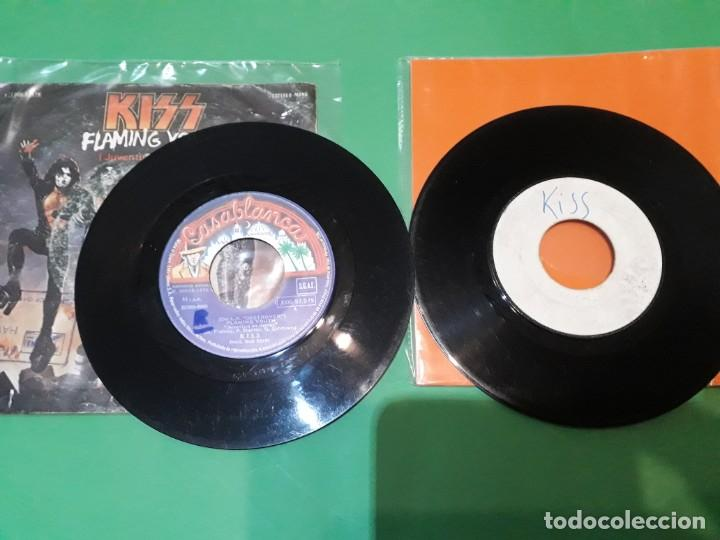Discos de vinilo: kiss flaming youth y I WAS MADE FOR LOVING YOU PROMO TESTPRESSING - Foto 3 - 196386323