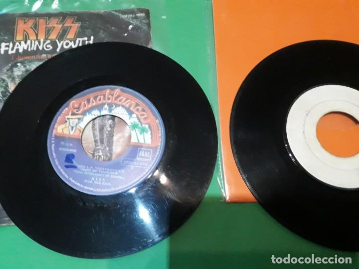 Discos de vinilo: kiss flaming youth y I WAS MADE FOR LOVING YOU PROMO TESTPRESSING - Foto 4 - 196386323