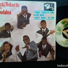 Discos de vinilo: ROCKY ROBERTS Y LOS AIREDALES, T BIRD, COUNTRY FOOL, HITCH HIKE, I DON'T WANT TO CRY. Lote 196388922