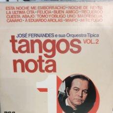 Discos de vinilo: JOSÉ FERNADES ORQUESTA TÍPICA TANGOS NOTA 10 DYNAFLEX BRASIL. Lote 196448571