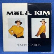 Discos de vinilo: LP - VINILO DE MEL Y KIM - RESPECTABLE – ESPAÑA – AÑO 1987. Lote 196452480