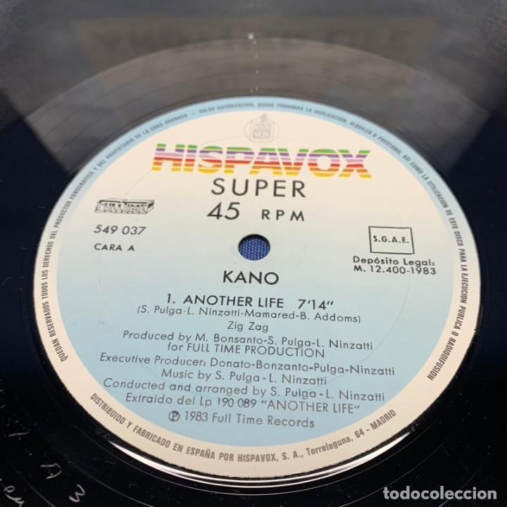 Discos de vinilo: SUPER SINGLE - MAXI SINGLE KANO – ANOTHER LIFE – ESPAÑA – AÑO 1983 - Foto 4 - 196458070