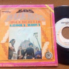 Discos de vinilo: LOS BUENOS - GROOVY WOOVY - HOLA HI HELLO ACCION 1969 FREAKBEAT MOD SOUL. Lote 196459801