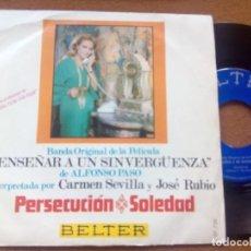 Discos de vinilo: ALFONSO SANTISTEBAN - PERSECUCION +1 - SINGLE VINILO GROOVE SCAT OST FUNK FREAKBEAT. Lote 196474180