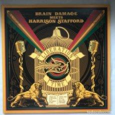 Discos de vinilo: BRAIN DAMAGE HARRISON STAFFORD LIBERATION TIME GAT NEW 2LP. Lote 196487257