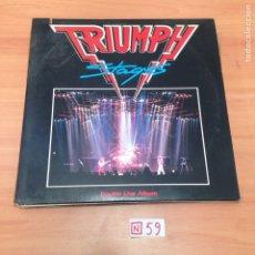 Discos de vinilo: TRIUMPH - STAGES. Lote 196496365