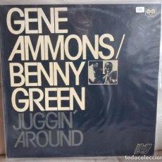Discos de vinilo: LP GENE AMMONS / BENNY GREEN, JUGGIN' AROUND. Lote 196501067