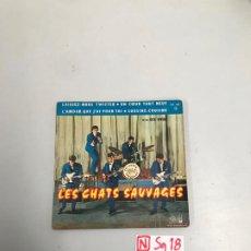 Discos de vinilo: LES CHATS SAUVAGES. Lote 196526158