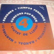 Discos de vinilo: DIFICIL DE ENCONTRAR , LP 4º CONCURS POR ROCK CIUTAT DE LLEIDA , REHENES,TIEMPOS PERDIDOS .. Lote 196540522