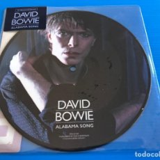 Discos de vinilo: DAVID BOWIE - ALABAMA SONG - RARE PICTURE DISC SINGLE COLLECTORS. Lote 196540787