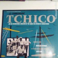 Discos de vinilo: TCHICO AND THE INTERNATIONAL ORCHESTRA OF CONGO ( 1985 GLOBE STYLE UK ) EXCELENTE ESTADO AFRICA. Lote 196545322