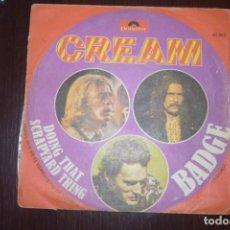 Discos de vinilo: CREAM. BADGE/ DOING THAT SCRAPYARD THING. Lote 196550430