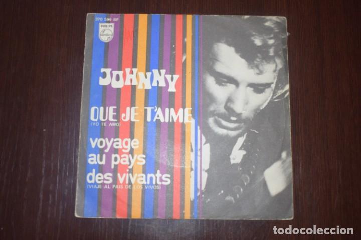 JOHNNY HALLYDAY YO TE AMO DOS SINGELS (Música - Discos - Singles Vinilo - Heavy - Metal)