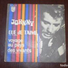 Discos de vinilo: JOHNNY HALLYDAY YO TE AMO DOS SINGELS. Lote 196552902