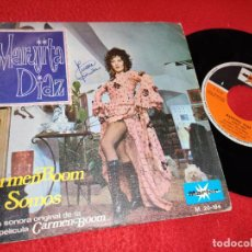 Disques de vinyle: MARUJITA DIAZ CARMEN BOOM BSO OST/SOMOS 7'' SINGLE 1971 MARFER PROMO GREG SEGURA. Lote 196568093