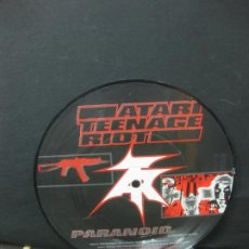 Discos de vinilo: ATARI TEENAGE RIOT/ASIAN DUB FOUNDATION. PARANOID. PICTURE DISC 45 RPM 1997.. Lote 196569375