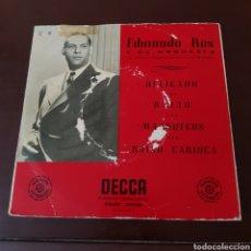 Disques de vinyle: EDMUNDO ROS Y SU ORQUESTA - RITMOS SUDAMERICANOS - DELICADO - BAIAO - MARRUECOS - BAIAO CARIOCA. Lote 196572772