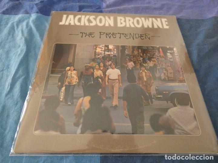 LP EDICION USA AÑOS 70 JACKSON BROWNIE THE GREAT PRETENDER BIEN DE PORTADA BIEN DE VINILO (Música - Discos de Vinilo - EPs - Pop - Rock Extranjero de los 70)