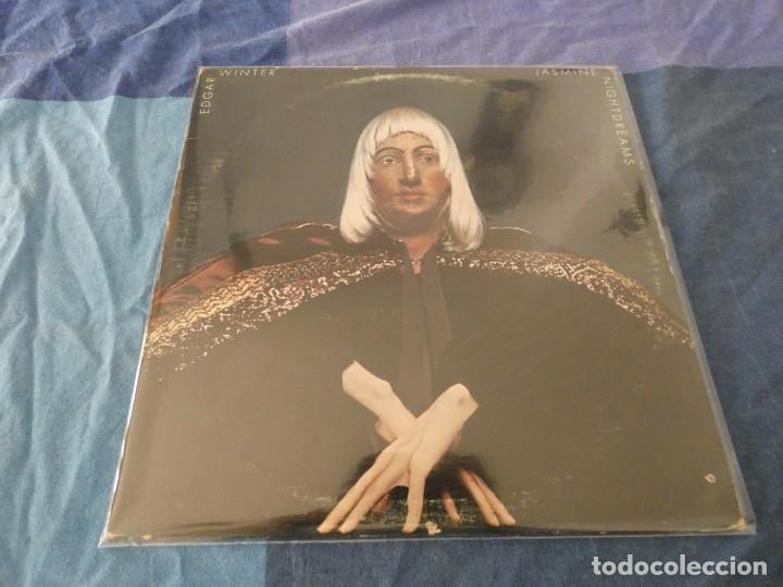 LP USA 1975 EDGAR WINTER JASMINE NIGHTDREAMS MBUEN ESTADO DISCO Y PORTADA (Música - Discos de Vinilo - EPs - Pop - Rock Extranjero de los 70)