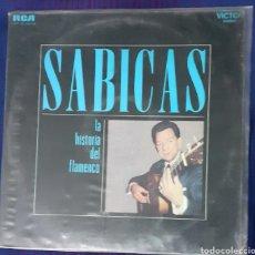 Discos de vinilo: SABICAS. LA HISTORIA DEL FLAMENCO. 2 LP. GATEFOLD. RCA LSP 19.000 N. ESPAÑA 1992.. Lote 196621192