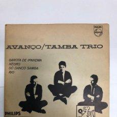 Discos de vinilo: EP EDITADO EN BRASIL 1963 MONO TAMBA TRIO/ AVANÇO/GAROTA IPANEMA/NEGRO/ SO DANÇO SAMBA/ RIO. Lote 196638241