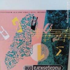 Discos de vinilo: MADAGASIKARA ONE MADAGASCAR MUSIC ( 1985 GLOBE STYLE UK ) AFRICA EXCELENTE ESTADO. Lote 196642427