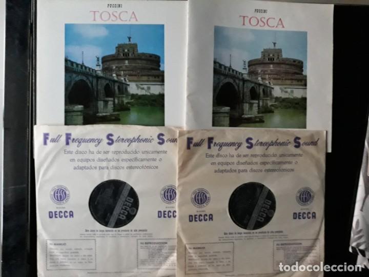 Discos de vinilo: Puccini Tosca Decca SXL 2180/81 1960 - Foto 3 - 196649467