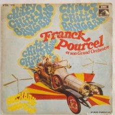 Discos de vinilo: SINGLE / FRANCK POURCEL / CHITTY CHITTY BANG BANG - HUSHABYE MOUNTAIN / 1969. Lote 196656236