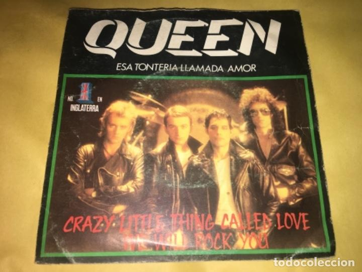 "Queen: crazy little thing called love we will rock you/esa tonteria llamada amor 7"" segunda mano"