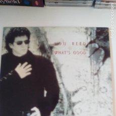 Discos de vinilo: LOU REED WHAT'S GOOD + 3 ( 1992 SIRE UK ) MUY BUEN ESTADO. Lote 196671685