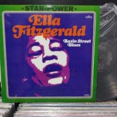 Discos de vinilo: LP ELLA FITZGERALD BASIN BLUES STREET VG++. Lote 196740871