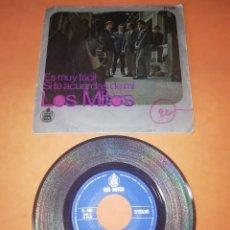 Discos de vinilo: LOS MITOS. ES MUY FACIL. SI TE ACUERDAS DE MI. HISPAVOX . 1969. . Lote 196772683
