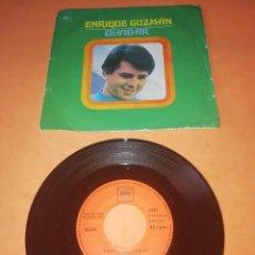 Discos de vinilo: ENRIQUE GUZMAN. OLVIDAR. AYER TE VI. CBS 1970 .. Lote 196774337