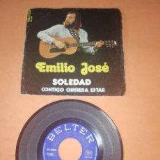 Discos de vinilo: EMILIO JOSE. SOLEDAD. CONTIGO QUISIERA ESTAR. BELTER 1973. Lote 196774891