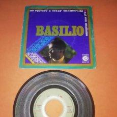 Discos de vinilo: BASILIO. NO VOLVERE A ESTAR ENAMORADO. TAL VEZ MAÑANA. NOVOLA RECORDS 1970. Lote 196777125