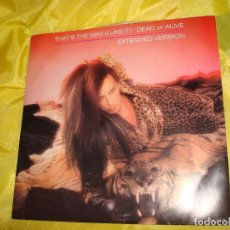 Discos de vinilo: DEAD OR ALIVE. THAT´S THE WAY. EXTENDED VERSION. CBS, 1982. MAXI-SINGLE. IMPECABLE (#). Lote 196778680