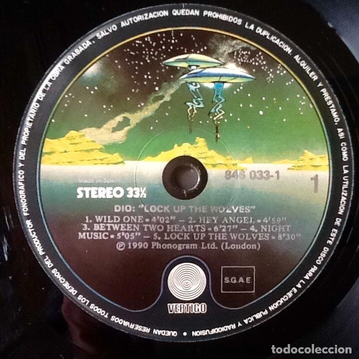 Discos de vinilo: DIO : LOCK UP THE WOLVES [ESP 1990] LP - Foto 4 - 196785517
