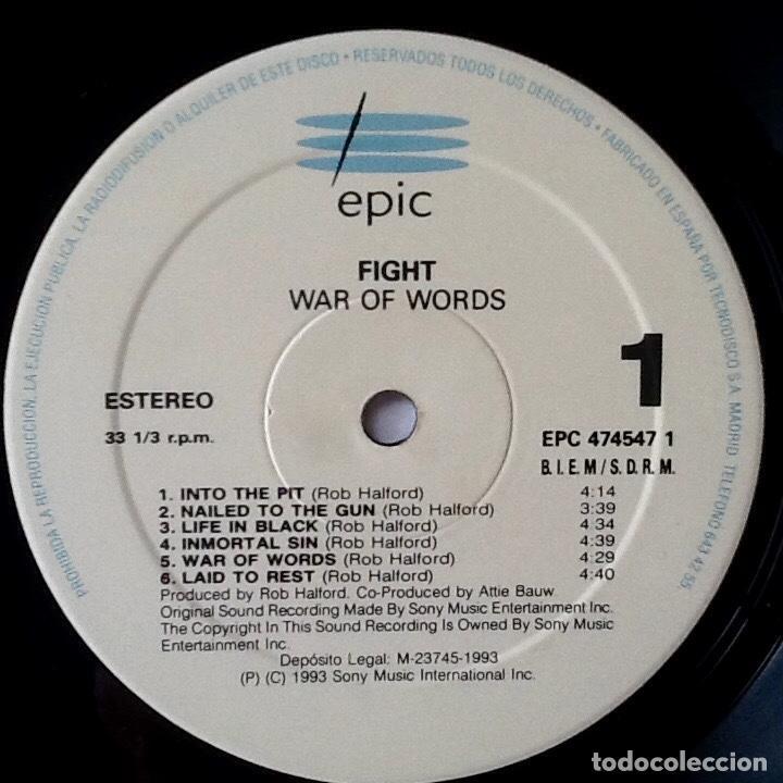 Discos de vinilo: FIGHT : WAR OF WORLDS [ESP 1993] LP - Foto 3 - 196785775