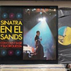 Discos de vinil: LP DOBLE ESPAÑOL FRANK SINATRA EN EL SANDS 1966 VG++. Lote 196786393