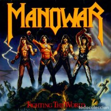 Discos de vinilo: MANOWAR _– FIGHTING THE WORLD. Lote 196803023