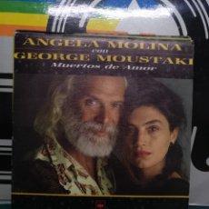 Discos de vinilo: ÁNGELA MOLINA/GEORGES MOUSTAKI. CBS 1986. Lote 196811013