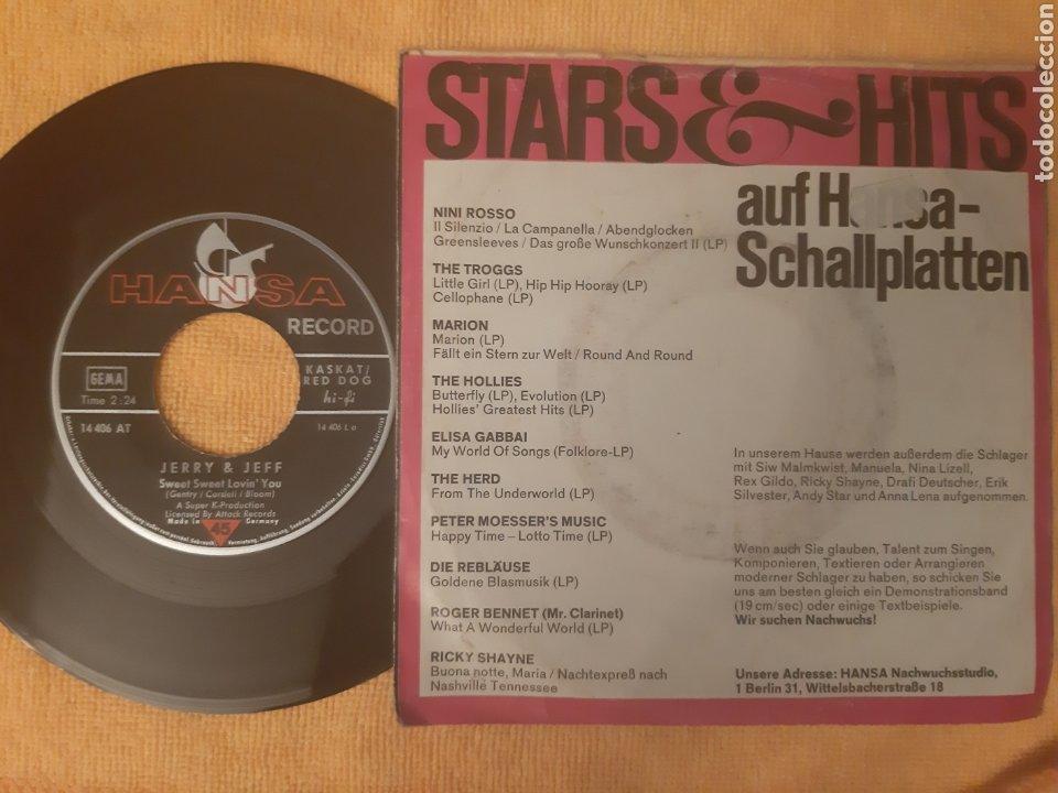 Discos de vinilo: SUPER DIFICIL!!!JERRY & JEFF. SWEET SWEET LOVIN YOU. MR JENSE. HANSA. GERMANY. 1970 - Foto 2 - 196815061