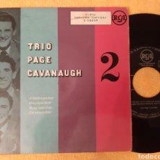 Discos de vinilo: MUY DIFICIL. TRIO PAGE CAVANAUGH 2. EP 4 TEMAS. RCA.. Lote 196816320