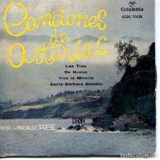 Disques de vinyle: REGIONAL (CANCIONES DE ASTURIAS) JOSE GONZALEZ PRESI / LAS TRES + 3 (EP 1958). Lote 196823245